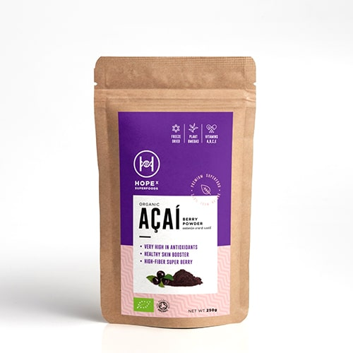 HOPEx organic Acai berry powder 100g- Healthplatz superfoods thailand