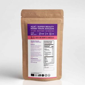 TREASURE brand organic Acai berry freeze dried powder 100g- Healthplatz superfoods thailand