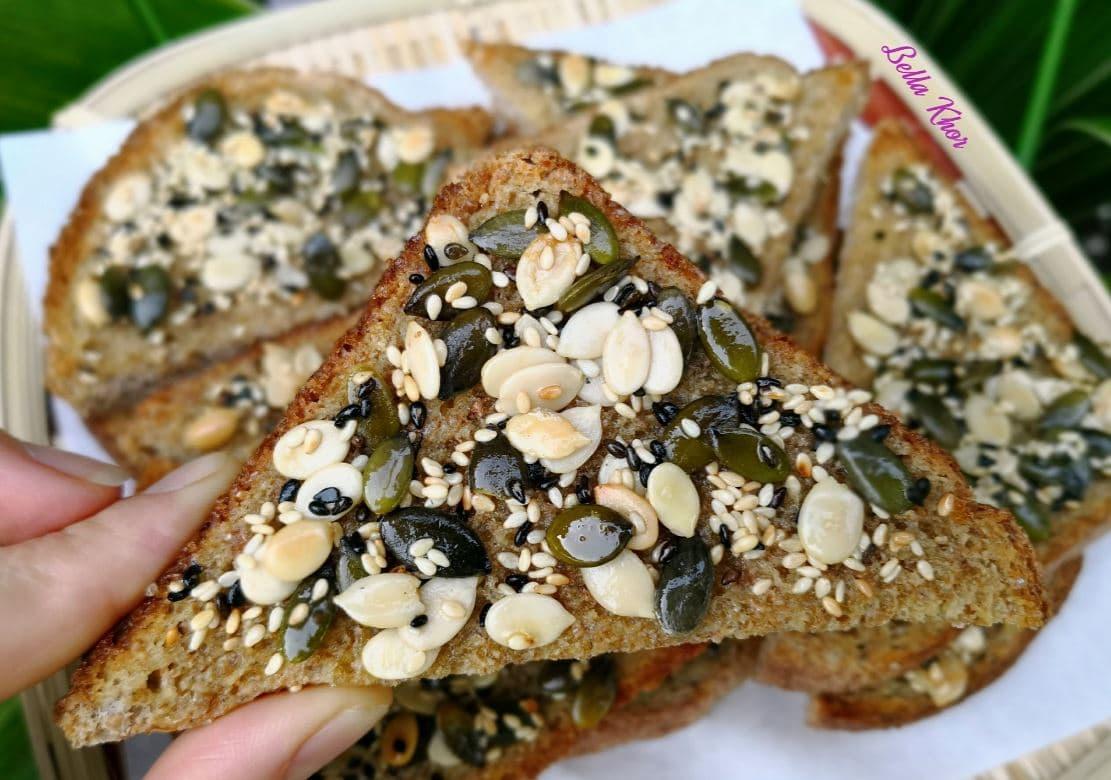กินไม่อ้วน ขนมปังโอลวีตอบธัญพืช คลีน ทำเองง่ายๆ