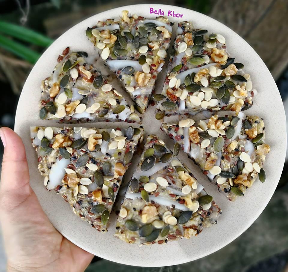 superfood flaxseed ของหวานคลีน กินไม่อ้วน ทำจากกล้วยมะพร้าวเหมาะกับคนกำลังลดน้ำหนัก