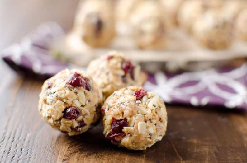cranberry almond organic falxseeds thailand สูตรทำ energy ball