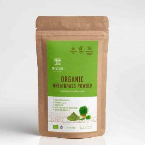 ผงต้นอ่อนข้าวสาลี ออร์แกนิค ยี่ห้อที่ดีที่สุด ดีท็อกซ์ ต้านมะเร็ง organic wheatgrass powder superfoods thailand healthplatz