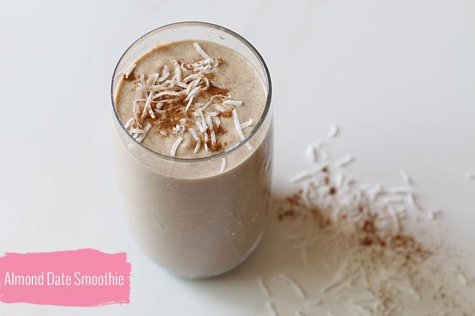 สมูทตี้ลดน้ำหนัก ด้วยซุปเปอร์ฟู้ด Almond-date-coconut-cacao superfood moothie healthplatz
