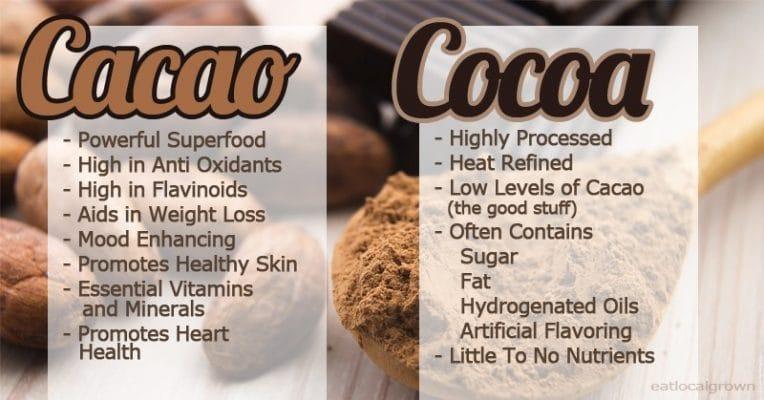 คาเคา Cacao โกโก้ Cocoa Infographic ออร์แกนิค Organic อาหารเพื่อสุขภาพ Food Superfood Online Shop Healthplatz Thailand ไทย ประเทศไทย Cacao Powder ผงคาเคา Cacao Nibs คาเคานิบส์ ข้าวโอ๊ตต้มคาเคา โอ๊ตมีล