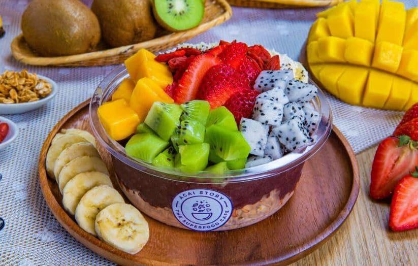 organic acai, acai bowl, breakfast, healthy menu, berries, anti-oxidants