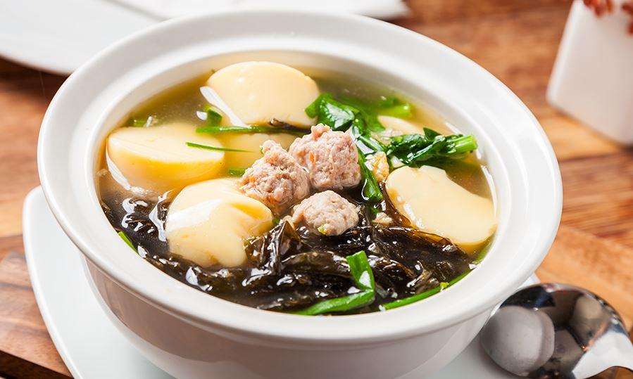 แกงจืดหมูสับเต้าหู้ สาหร่าย ไอเดีย อาหารคลีน Healthplatz online organic superfoods store healthy menu