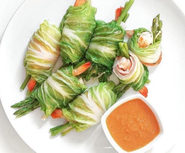 29 กุ้งห่อผักกาดขาว วิธีทำ ไอเดีย อาหารคลีน Healthplatz online organic superfoods store healthy menu