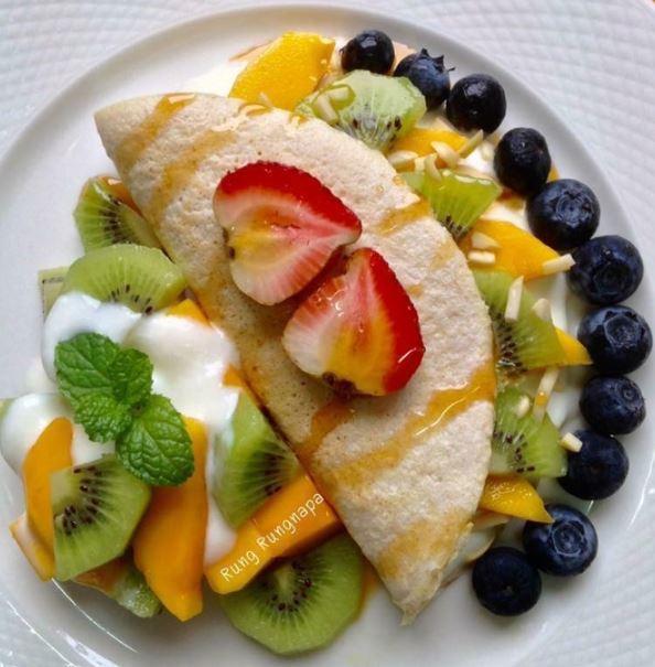 เมนูขนมคลีน เครปไข่ขาว ไร้แป้ง อาหารคลีน healthy-food for quarantine by Healthplatz
