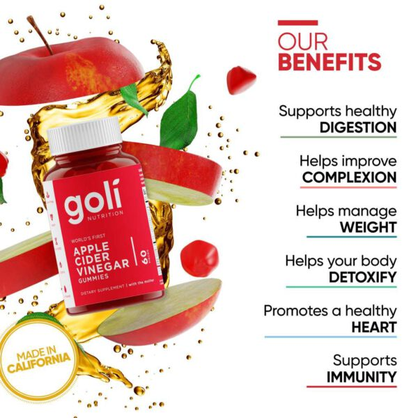 แอปเปิ้ลไซเดอร์ Goli apple cider vinegar gummies sum-Healthplatz