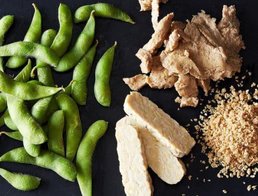 soy tempeh edamame high protein vegan food