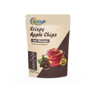 natural apple chips chocolate flavour original brand Kinchips - Healthplatz