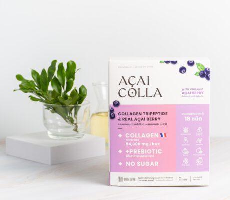 อาซาอิ คอลล่า Acai Colla คอลลาเจนย้อนวัย สูตรคีโตไม่มีน้ำตาล สารสกัด18ชนิด